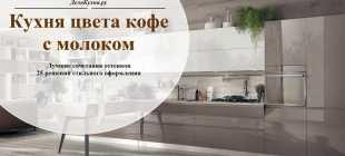 Оформление дизайна кухни в цвете «кофе с молоком»
