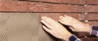 Отделка цоколя клинкерной плиткой