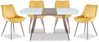 Обеденные столы и стулья для кухни (44 фото): обеденная группа с раздвижным стеклянным столом