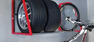 Правильное хранение в гараже шин, колес в сборе: стеллажи и полки, фото приспособления